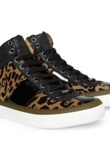 Jimmy Choo Belgravia Jaguarprint Ponyskin High Top Sneakers - Lyst