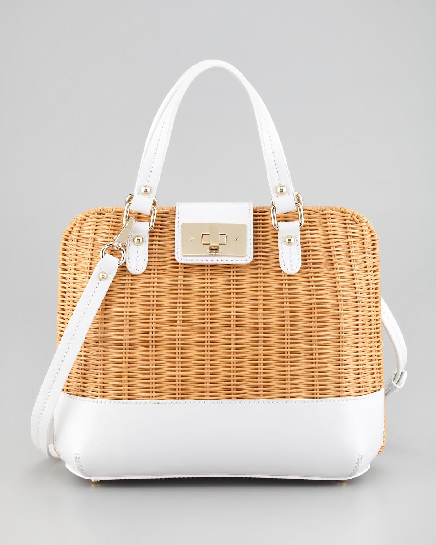 Lyst Kate Spade New York Waverly Terrace Medium Wicker Satchel Bag