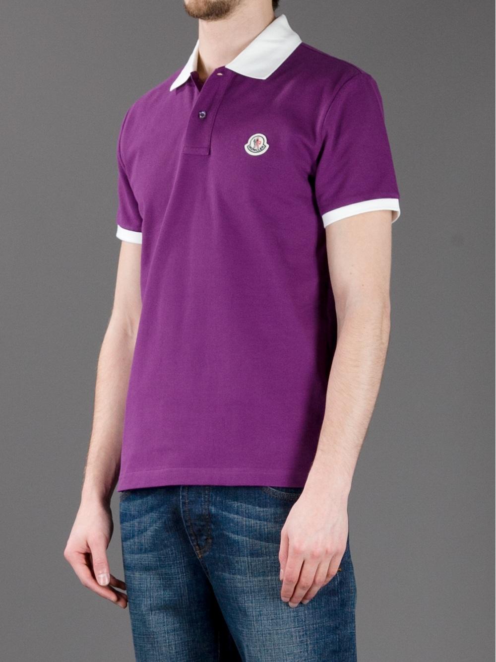 purple moncler polo