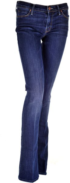 Mother Denim The Runaway Skinny Flare Jeans in Flowers From The Storm in Blue (denim) - Lyst