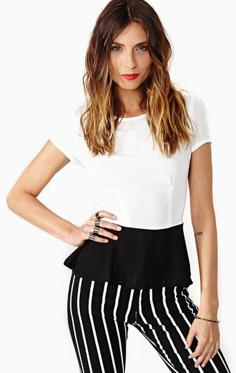 Nasty Gal Opposites Attract Peplum Top - Lyst