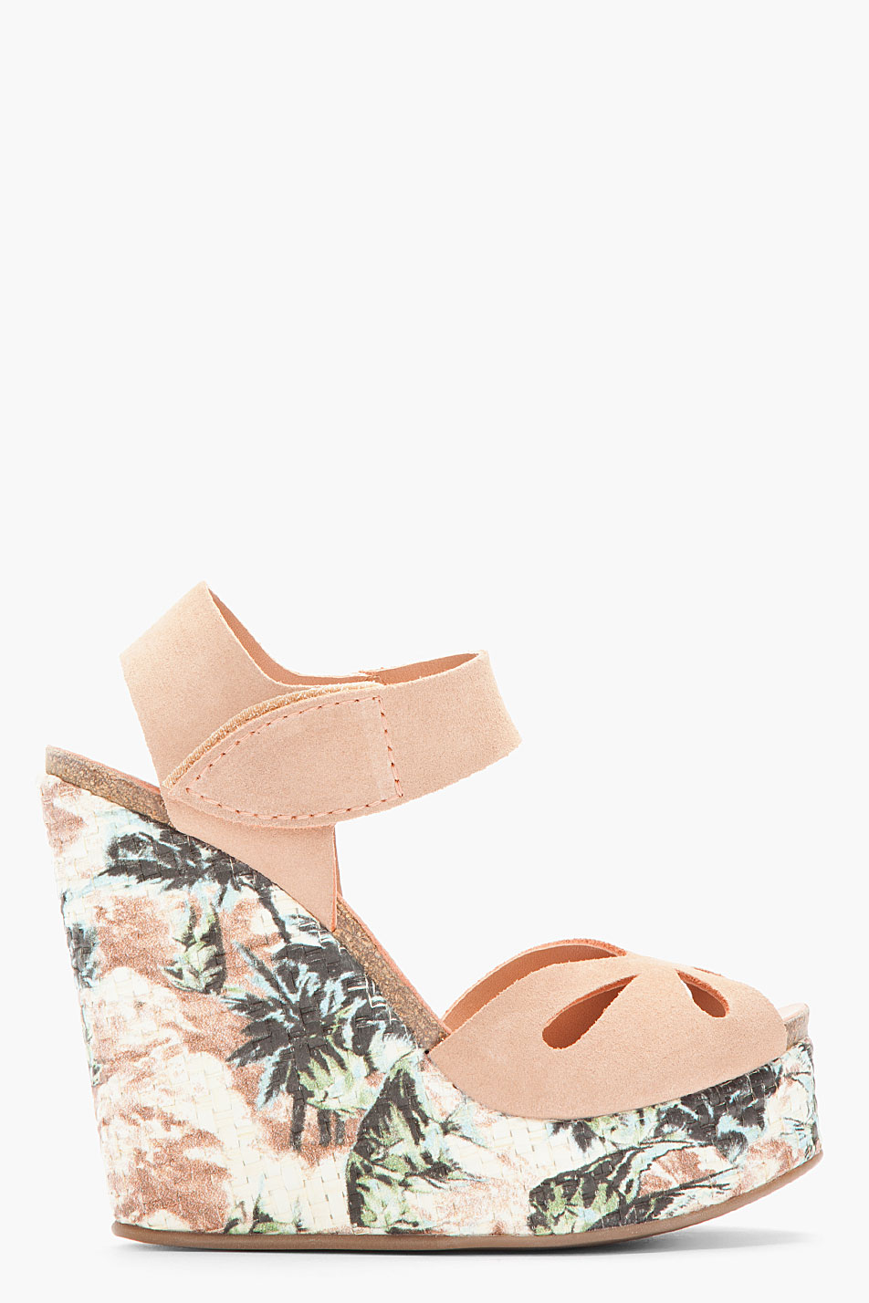 Lyst Pedro Garcia Dusty Rose Suede Floral Alice Wedge