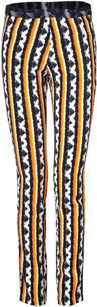 Peter Pilotto Orange-Blue-Multi Striped Eli Pants - Lyst
