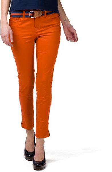 tommy hilfiger rome lenny regular fit pants in orange. Black Bedroom Furniture Sets. Home Design Ideas