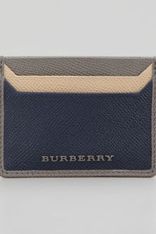 Burberry Saffiano Multicolor Card Case - Lyst