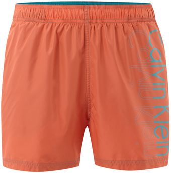Calvin Klein Placement Logo Swim Short - Lyst