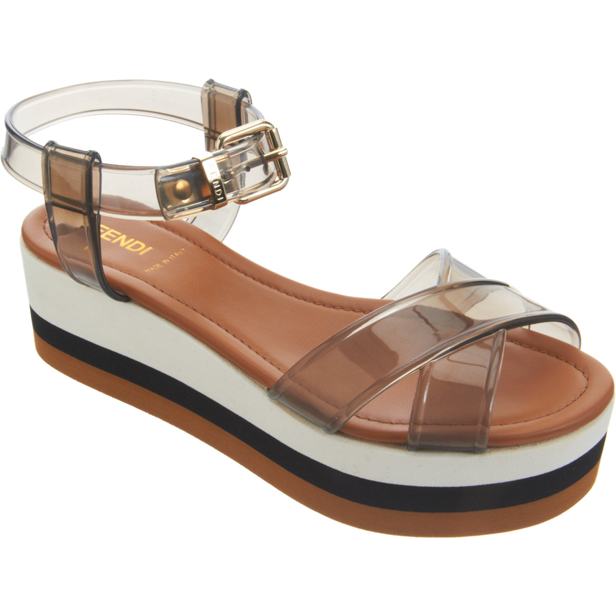 Fendi Translucent Strap Platform Sandal in Transparent ...