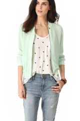 Joie Empire Silk Bomber Jacket - Lyst
