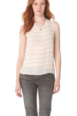 L'Agence Sleeveless Blouse with Stones - Lyst