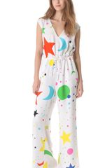 Lisa Perry Galaxy Moon Jumpsuit - Lyst