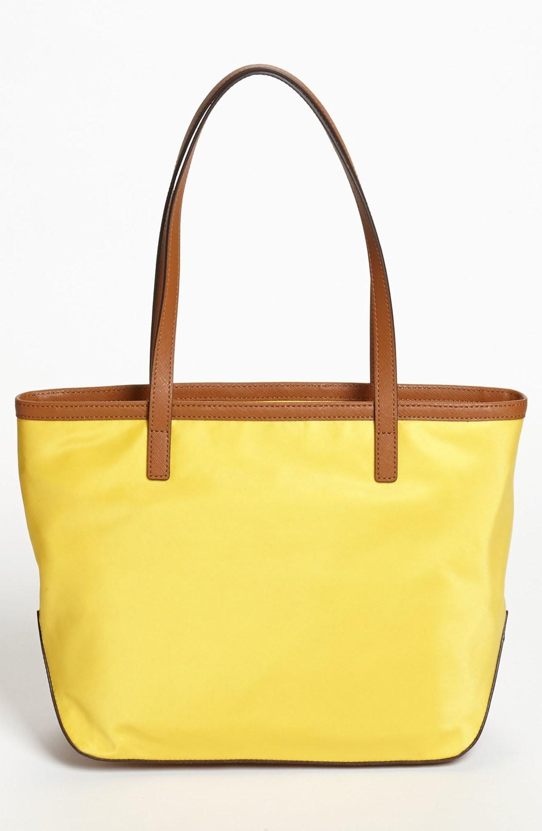 Bolsa Michael Kors Nylon : Michael kors kempton nylon tote in yellow lyst