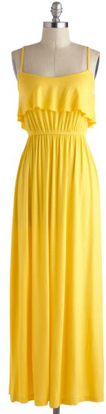 ModCloth Jolly Good Yellow Dress - Lyst