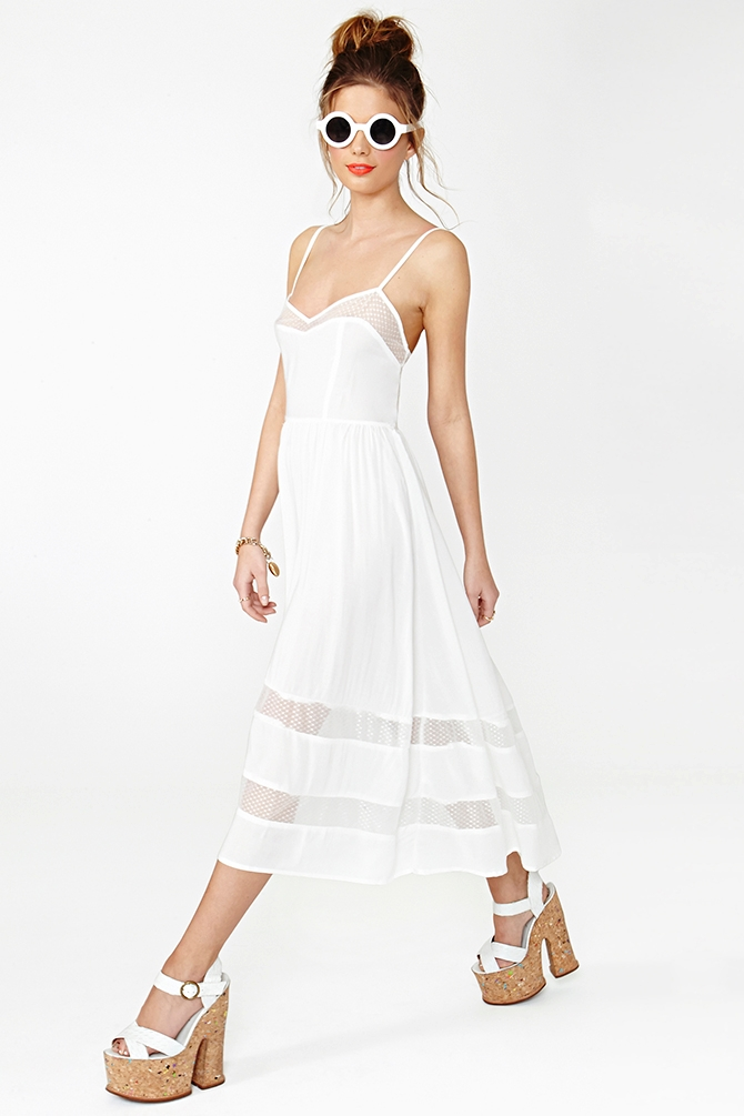 3be91f7d5bf2 Nasty Gal Charmed Lace Dress White in White - Lyst