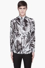 Paul Smith Black and Grey Scissor Print Shirt - Lyst
