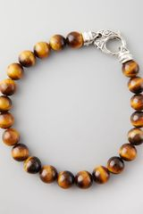 Stephen Webster Beaded Tigers Eye Bracelet 8mm - Lyst