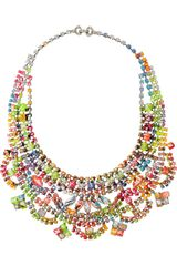 Tom Binns A Riot Of Color Glow In the Dark Swarovski Crystal Necklace - Lyst