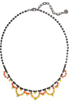 Tom Binns Electro Clash Nova Painted Swarovski Crystal Necklace - Lyst