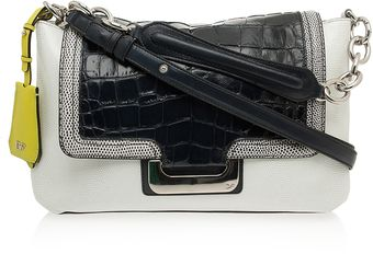Diane Von Furstenberg Croc Embroidered Bag - Lyst