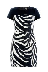 DKNY Jacquard Zebraprint Dress