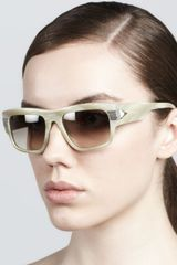 Givenchy Modified Rounded Rectangular Sunglasses Taupe - Lyst