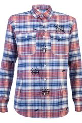 Julien David Plaid Shirt - Lyst