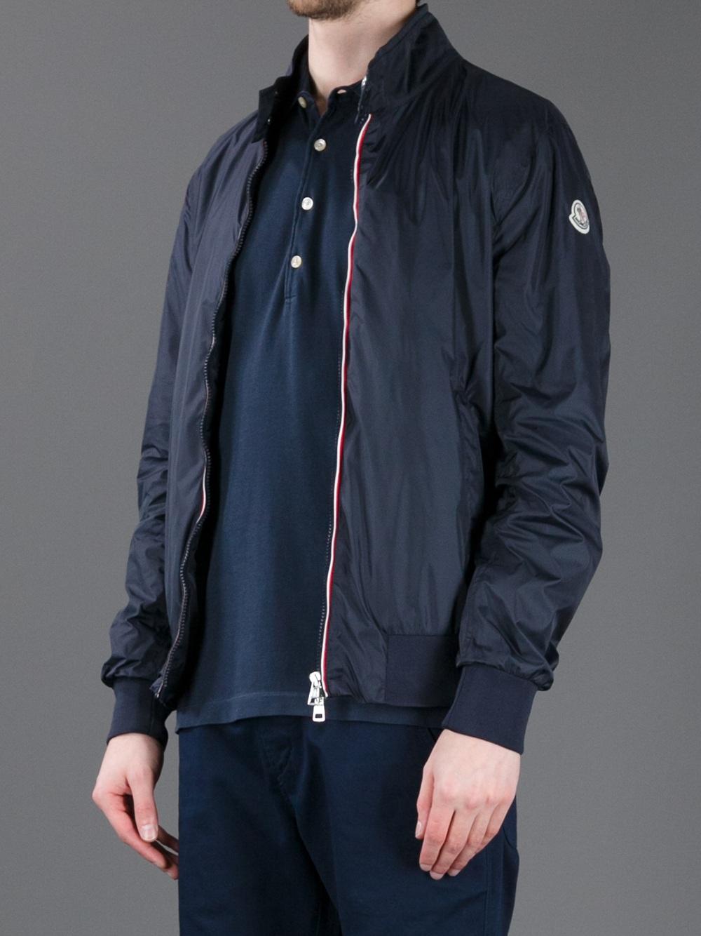moncler darlan waterproof jacket in blue for men lyst rh lyst co uk