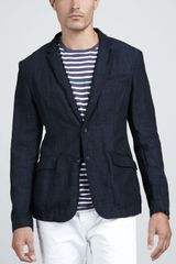 Rag & Bone Phillips Cotton linen Blazer - Lyst