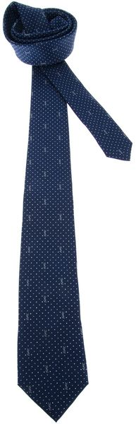 Yves Saint Laurent Patterned Tie - Lyst