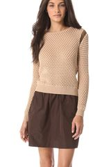 Carven Bicolor Cutout Sweater - Lyst