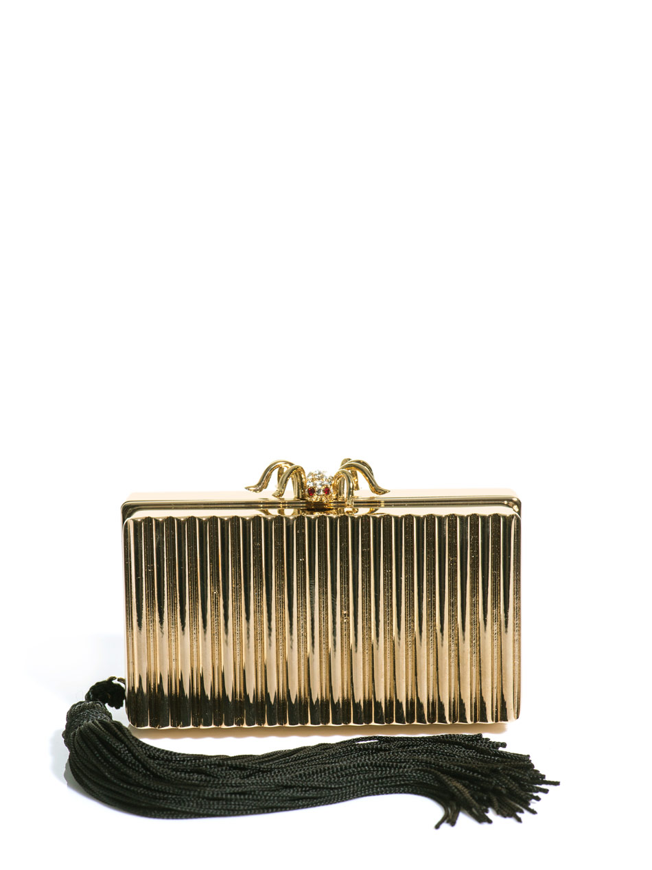 charlotte olympia bijoux do not disturb mini clutch bag in yellow lyst. Black Bedroom Furniture Sets. Home Design Ideas