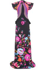 Etro Floral Print Floor-Length Gown