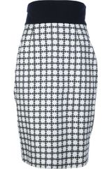 Fausto Puglisi High Waisted Optical Print Skirt - Lyst