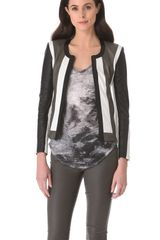 Helmut Lang Pax Leather Combo Jacket - Lyst