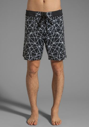 Isaora Geo Light Printed Welded Stretch Board Short - Lyst
