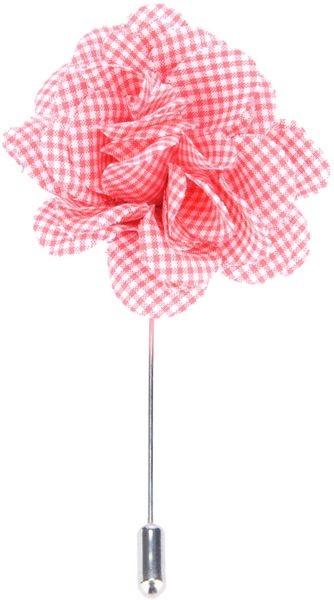 Lanvin Checked Print Flower Brooch - Lyst