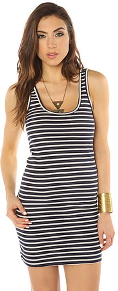 Lifetime Collective Racerback Dress in Blue Stripe - Lyst