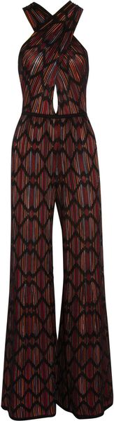 M Missoni Wideleg Cotton Blend Crochet Knit Jumpsuit - Lyst