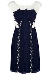 Philosophy di Alberta Ferretti Silk Pleated Dress - Lyst