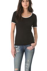 Rag & Bone The Piped Tee - Lyst