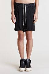 Rick Owens Drop Crotch Shorts - Lyst