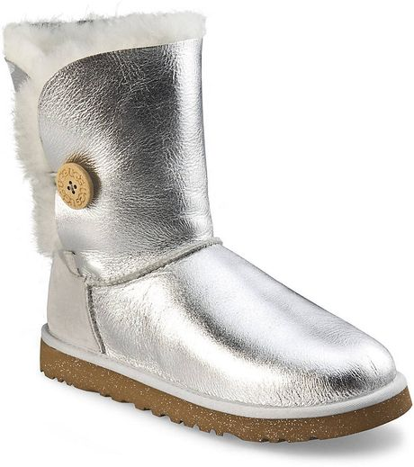 Ugg Bailey Button Boots In Silver Silver Metallic Lyst