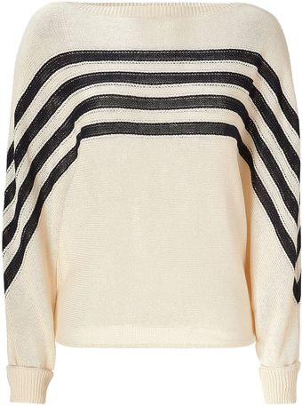 Vanessa Bruno Striped Knit Pullover - Lyst