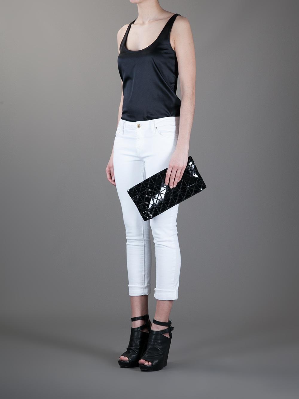 Bao Bao Issey Miyake Geometric Clutch Bag In Black Lyst