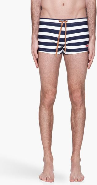 Diesel  Striped Bmbr Aloha Brief Swim Trunks - Lyst