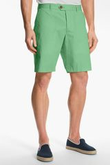 French Connection Peached Cotton Shorts - Lyst
