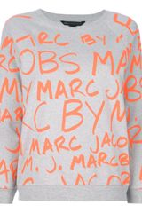 Marc By Marc Jacobs Logo Print Sweatshirt - Lyst