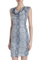Marc New York By Andrew Marc Snakeprint Cap Sleeve Dress - Lyst