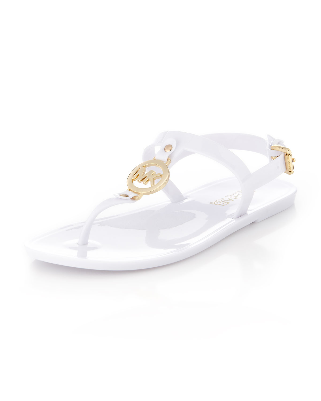 c6c212766021c3 Lyst - MICHAEL Michael Kors Sondra Jelly Thong Sandal in White