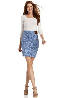 Michael Kors Printed Pencil Skirt - Lyst