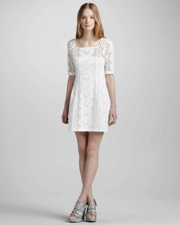 Lyst Nanette Lepore Sandy Beach Lace Dress In White